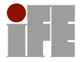 IFE logo inserted into the text