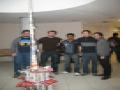 EPS Mars 2009-Étudiants construisent une tour autoportante en journaux