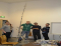 EPS March 2013-Students build the tallest self-standing tower out of newspaper