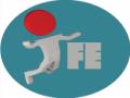 IFEk w kole - logo IFE z ludzikiem zrobionym z literki  i
